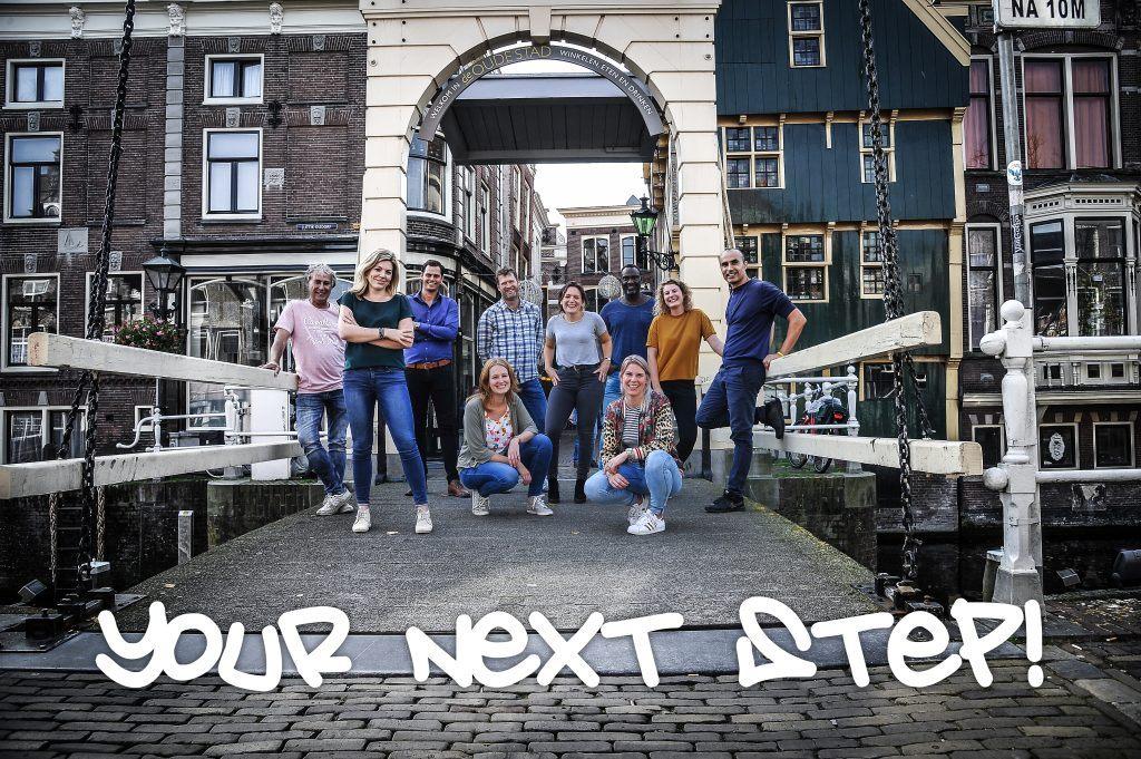 Gemotiveerde jongeren die mee hebben gedaan aan Your Next Step!